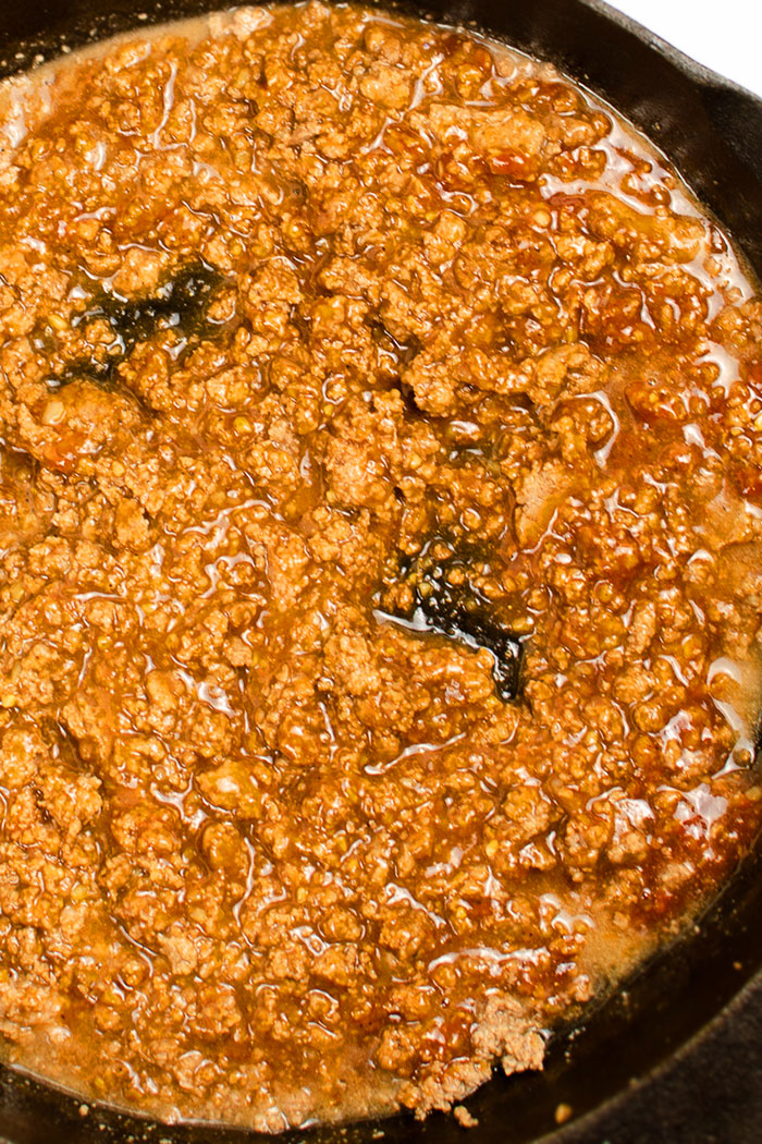 Easy Sloppy Joes in Black Slow Cooker