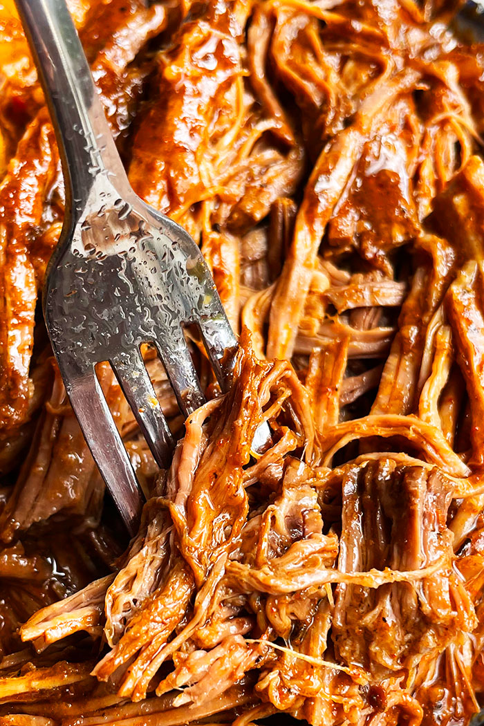 Fork Full of BBQ Pulled Beef