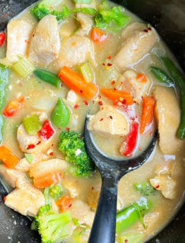 Easy Thai Green Chicken Curry in Black Slow Cooker